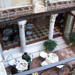 View of the courtyard from balcony of Junior Suite