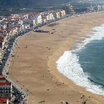 Nazare beach seen from Sito