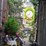 Cute alley cafe near Niewmarkt