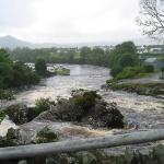 The river running through Sneem and the local campground
