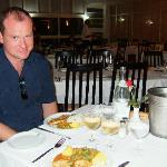 Evening meal in the restaurant