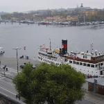 The view from our balcony - towards Skeppsholmen