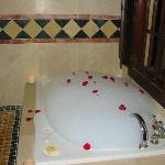 Wedding Night Rose Petal Bath