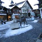 Gstaad center in winter