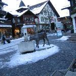 Gstaad center in winter