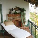 The chaise lounge on the private terrace for Casa Delfin