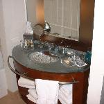 This is the bathroom in our suite