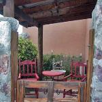 Private entrance and patio on the Los Pajaritos room