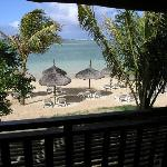Beachfront balcony view