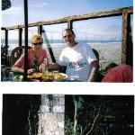 The indoor /outdoor restaurant