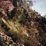 view from town square at Taormina