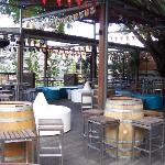 Outside bar and grill