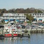 Hyannis Hotiday Motel from harbour