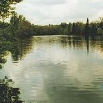 Tuscany quiet lake at Monaciano