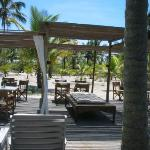 The outdoor area of the restaurant