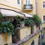 courtyard of Hotel Adler