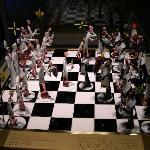 An incredible blown glass chess set