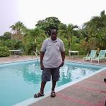 Picture of me by the pool area. YES it has a pool.