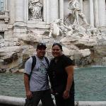 Us in front of the Trevi Fountain