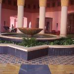 fountain in reception
