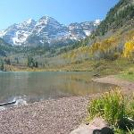 Maroon Bells Lake near Aspen. October 5, 2005