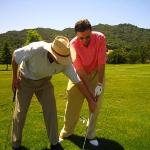 Getting golf coaching with Kris Moe
