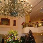 The Lobby decorated for Christmas