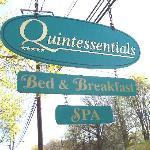 Quintessentials B&B and Spa Sign