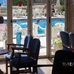 Reina del Mar pool from inside