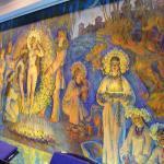 Mural in the pool room