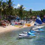Rode jetskis and paddled kayaks
