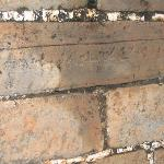 Few places where bricks were stamped