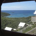 the view of Saltpond Bay through our window