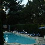 The swimming pool off the terrace