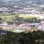 View of hotel from Monte Brasil