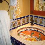 Sink and Tile in Dressing Area