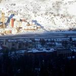 A view of the Evergreen/VVMC from the slopes.