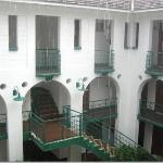 View of the courtyards in the middle of the villas