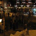 Thursday night parade in main street from balcony.