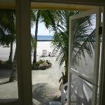 Looking to beach from cabana