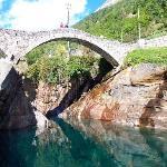 An old Roman? bridge in Verzasca Valley
