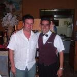 Me and Eddy, the waiter at the Italian.