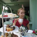 Enjoying Afternoon Tea