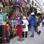 Leather markets 5 minutes walk from the hotel. Dont purcase 'till you have visited other shops.