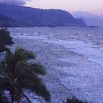 Princeville Hanalei Bay view from condo - right before sunrise #1