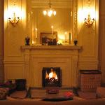 Fireplace in the Scone & Crombie Suite