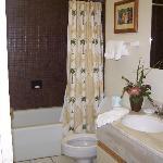 bathroom next to twin room