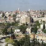 View of West Jerusalem from our room's balcony