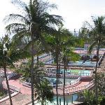 Mildew over pool area