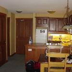 Kitchen & dining area in 1 BR unit